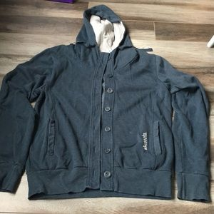 Button up bench hoodie